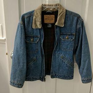 GAP flannel lined denim jacket.